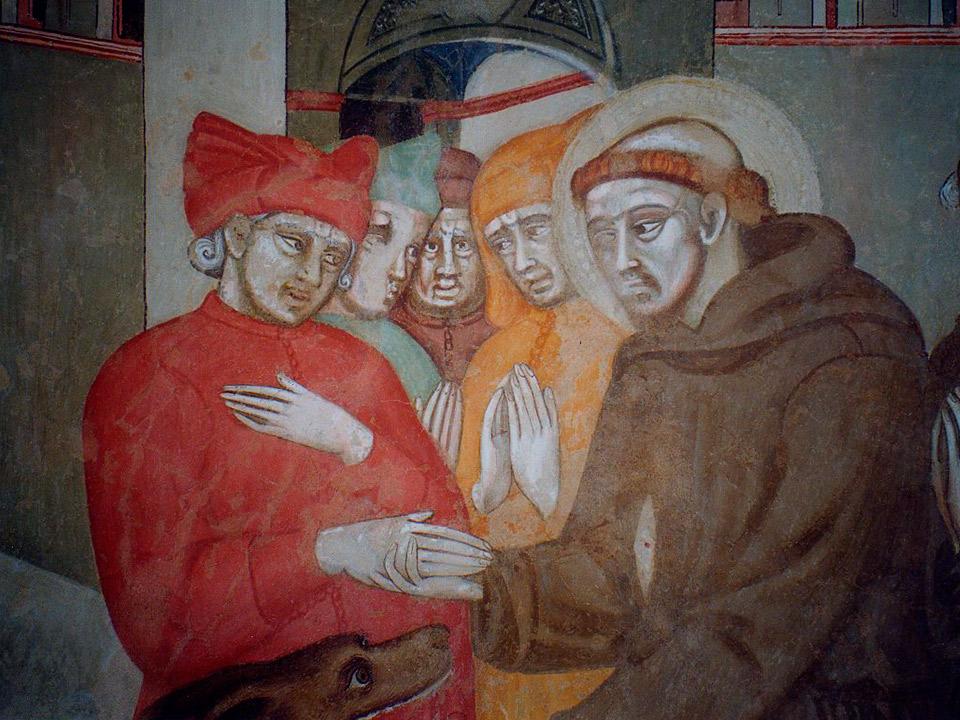 Chiesa di San Francesco, Pienza (SI) - Seconda parte del XIV sec. Cristoforo di Bindoccio e Meo di Pero dopo il restauro.