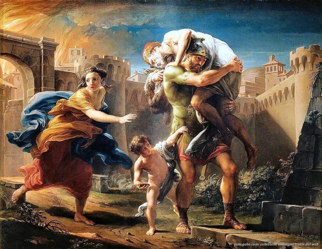 Enea in fuga da Troia - Pompeo Batoni