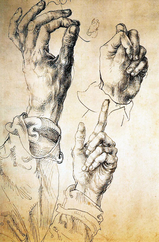 Studio di tre mani - Albrecht Durer